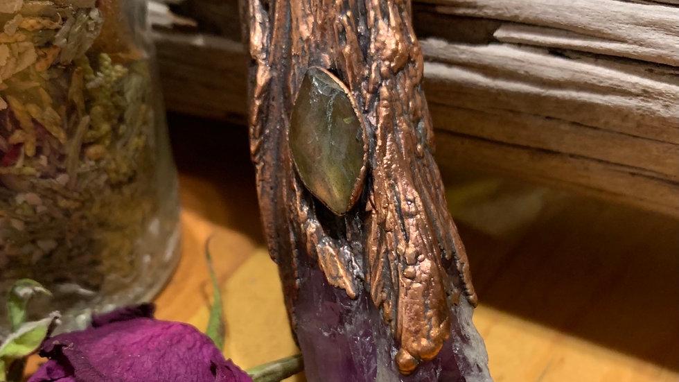 Large Amethyst Necklace w/ Labradorite