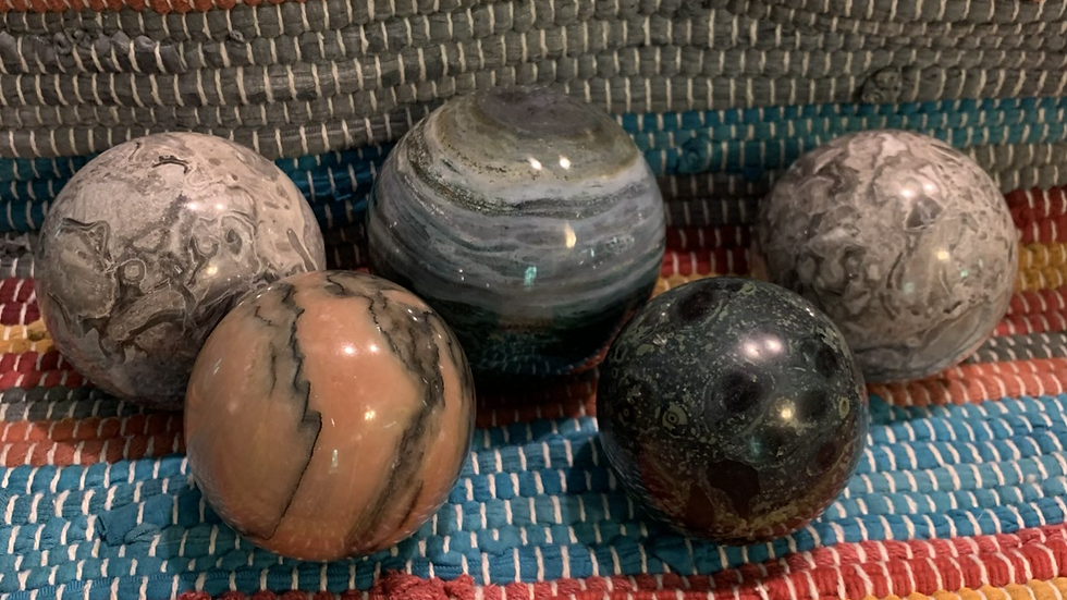 Spheres for creating an aura of energy