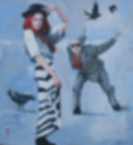 Walking with Crows 50x50cm on canvas.JPG