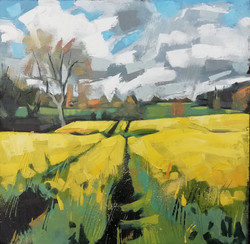 LMay Landscape near Penrith 40x40cm