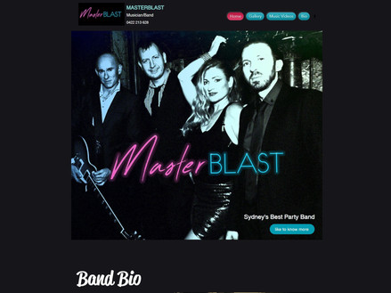Master Blast Party band website