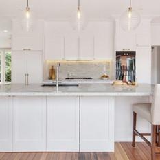 hamptons inspired kitchen design - renov