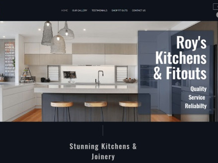 website for tradies - Roys Kitchens
