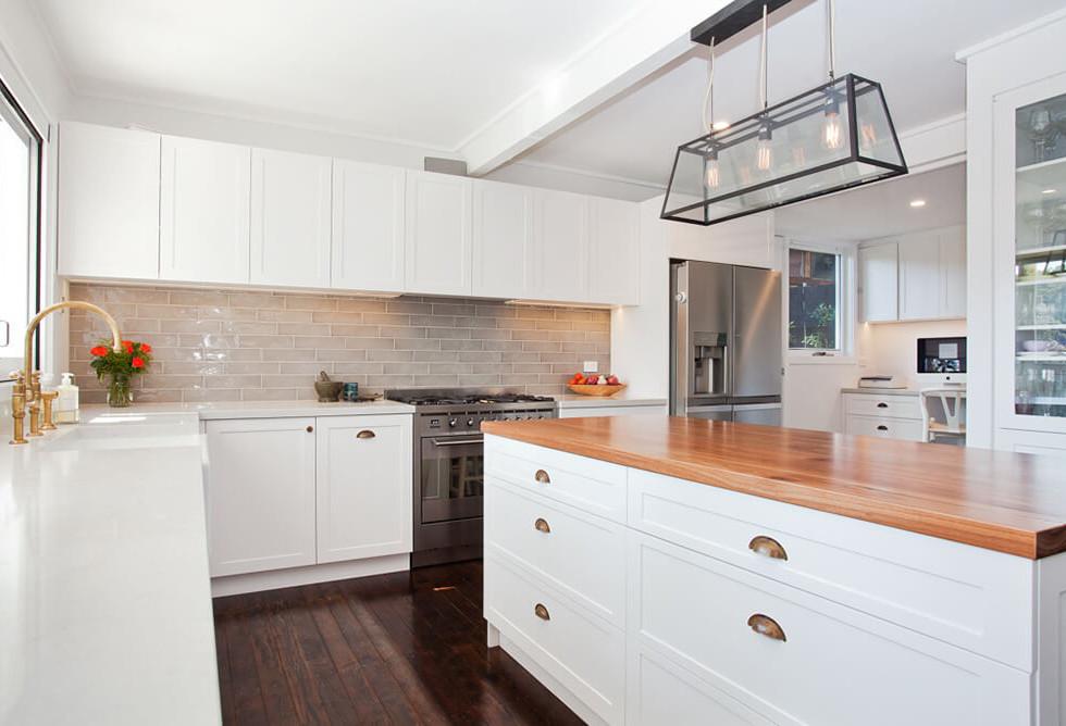 timber benchtop new kitchen design  Newp