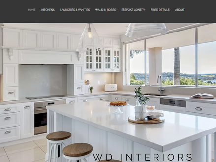 wdinteriors joinery website - tradies