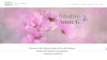 Light airy & magical psychic website