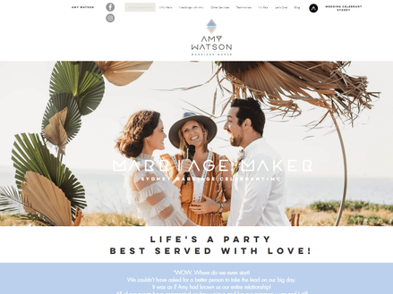 Fix my wix website - Marriage maker Amy.