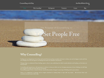 Counselling with Kay - Custom Design Web Site
