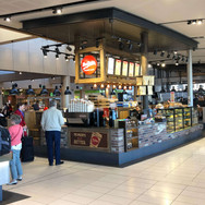 cafe fit out Sydney airport Mrs Fields h