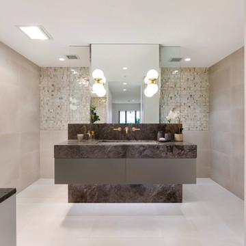 North shore bathroom bespoke vanity -kirribilli
