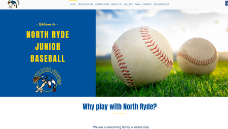 North Ryde Junior baseball club new webs