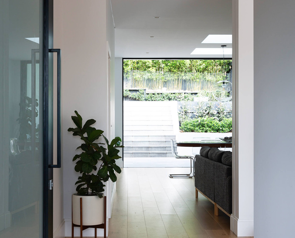 Oversize front door entry by Braeside Building -