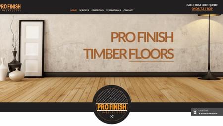 tradie website for Profinish Floors