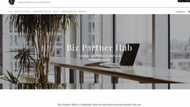 professional consultant website on Wix b