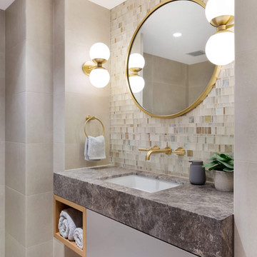Stunning powder room - northshore bathroom renovation