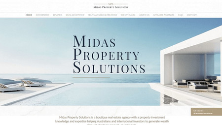 Professional website for consultants
