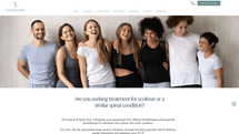 scoliosis & spine clinic health industry website
