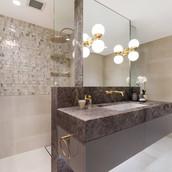 North shore bathroom custom vanity - kirribilli