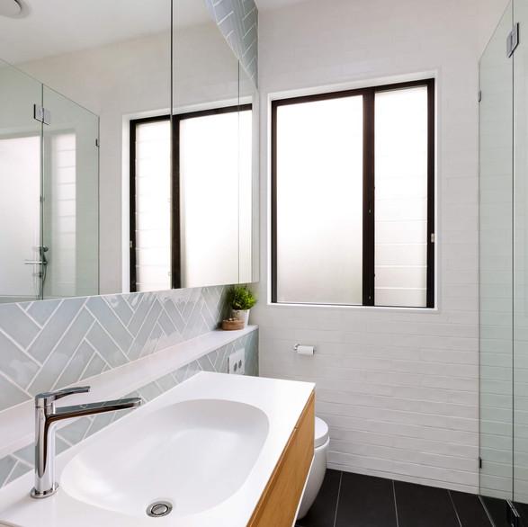 Coastal vibe bathroom renovation