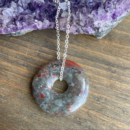DRAGON VEIN STERLING SILVER DAINTY DONUT NECKLACE