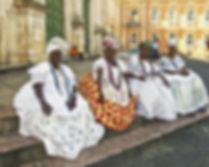 Baianas sentadas em Salvador