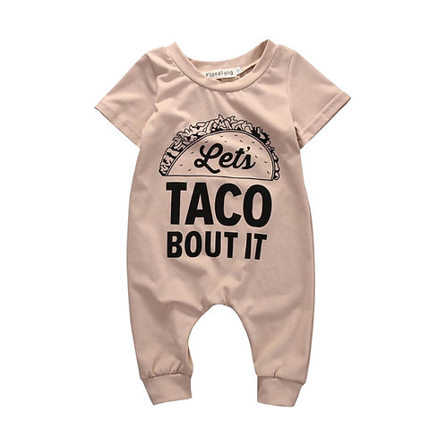 Let's Taco Bout It Funny Baby Romper