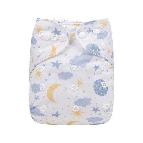 ALVA OS Pocket Diaper - Moon and Stars