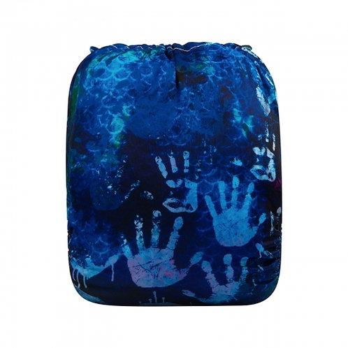 ALVA OS Pocket Diaper - Blue Hand Prints