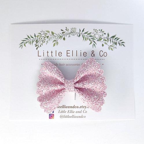 Glitter Bow - Blush