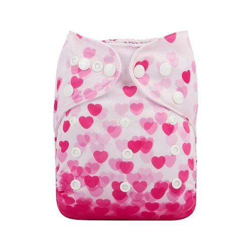 ALVA OS Pocket Diaper - Pink Hearts