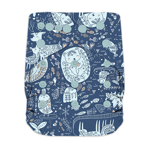 "Greener Odyssey OS Pocket Diaper ""North Pole Love"""