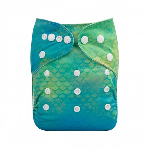 ALVA OS Pocket Diaper - Green Scales