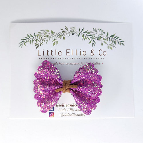 Glitter Bow - Hot Pink