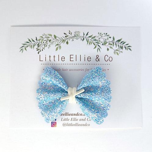 Glitter Bow - Baby Blue