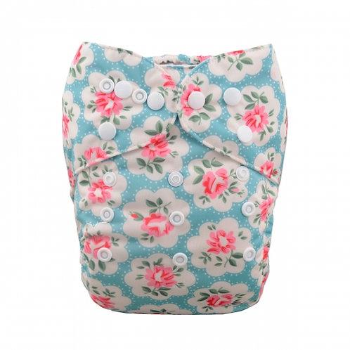 ALVA OS Pocket Diaper - Blue Floral