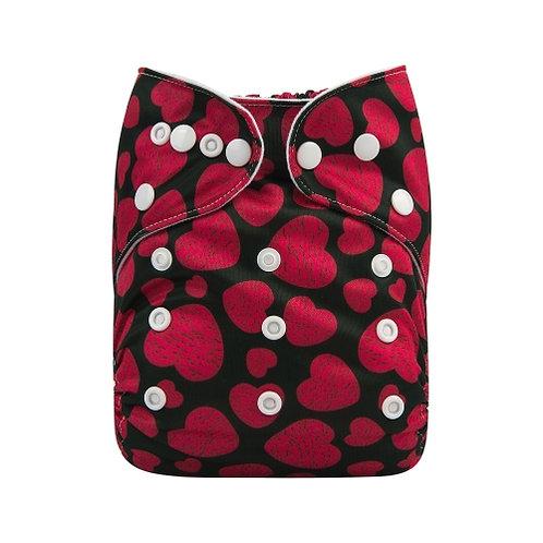 ALVA OS Pocket Diaper - Hearts
