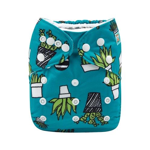 ALVA OS Pocket Diaper - Blue Succulents