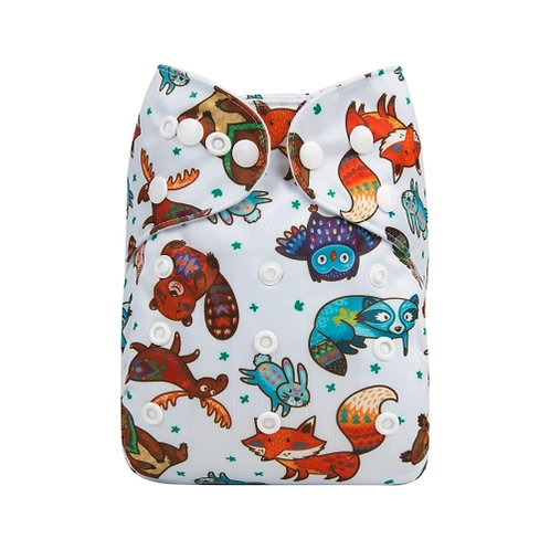 ALVA OS Pocket Diaper - Forest Animals