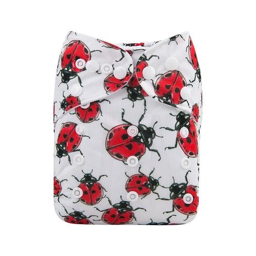 ALVA OS Pocket Diaper - Ladybug