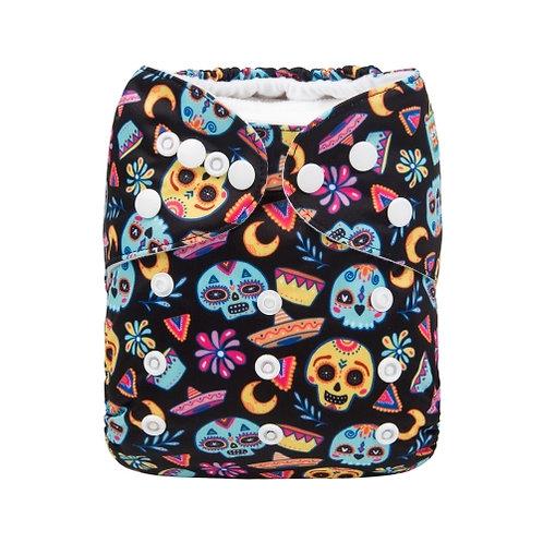 ALVA OS Pocket Diaper - Skulls