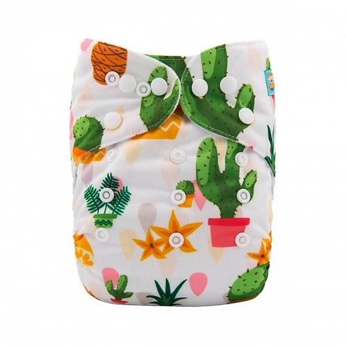 ALVA OS Pocket Diaper - Sharp Succulents