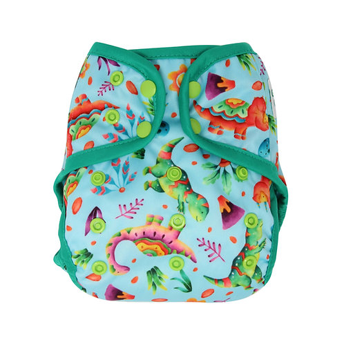 "Greener Odyssey OS Diaper Cover ""Dinosaur Party"""