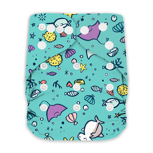 "Greener Odyssey OS Pocket Diaper ""Aquatic Friends"""