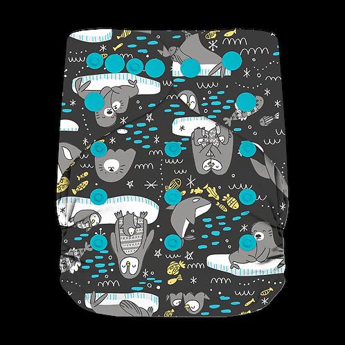 "Greener Odyssey OS Pocket Diaper ""South Pole Love"""