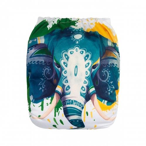 ALVA OS Pocket Diaper - Painted Elephant