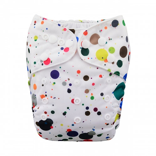 ALVA OS Pocket Diaper - Paint Splatter