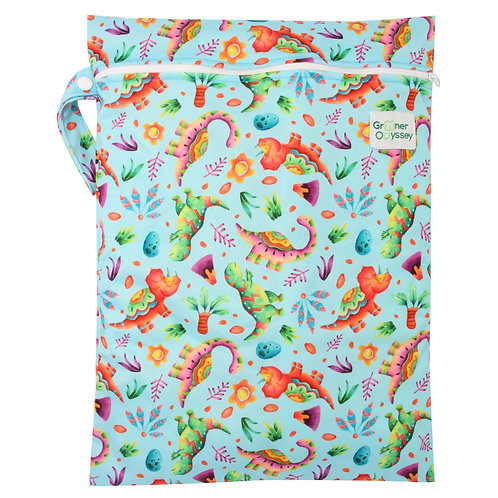 Greener Odyssey Small Wet Bag - Dinosaur Party