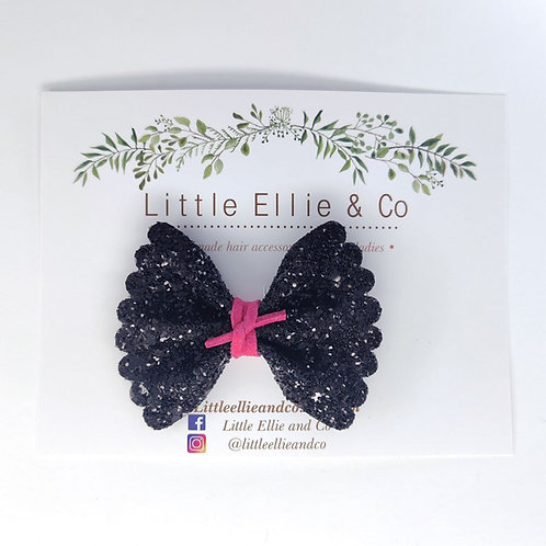 Glitter Bow - Black