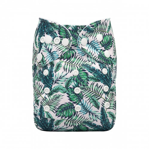 ALVA OS Pocket Diaper - Tropical Leaves