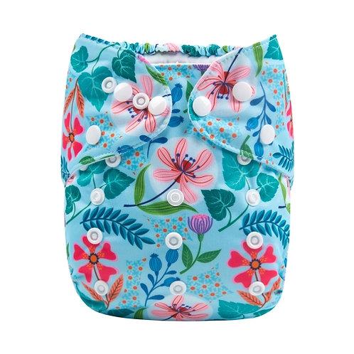 ALVA OS Pocket Diaper - Tropical Flowers